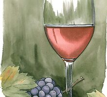 Wine Card #1 by Anthony Billings