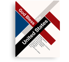 God Bless The United States Canvas Print