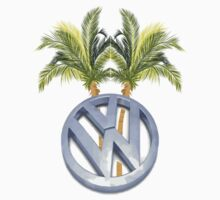 VW Palm Trees Surf Shirt-Sticker by jay007
