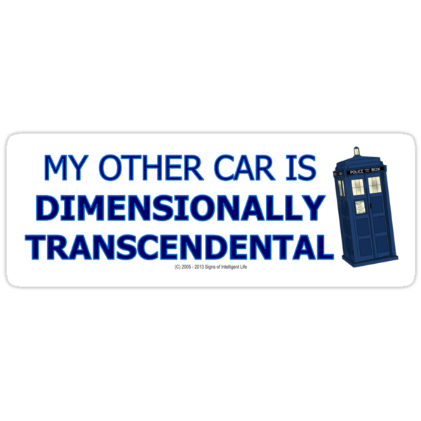 My other car is Dimensionally Transcendental Sticker by SOIL