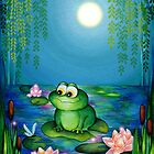 Frog &amp; Lily Pond  by Annya Kai