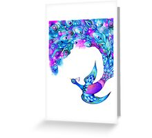 Peacock Feather Fantasy Greeting Card