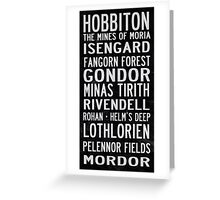 Lord of the Rings Tram Scroll Greeting Card
