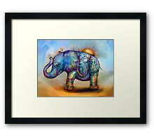 magic rainbow elephant Framed Print
