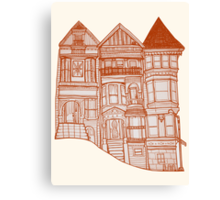 Summer Neighborhood Canvas Print