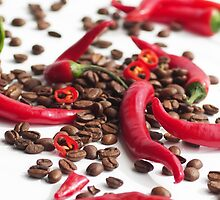 Modern Chili and Coffee beans by Aviana