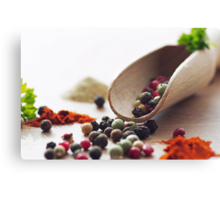 Fresh Pepper and Spices Canvas Print