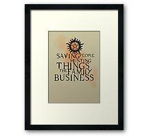 Family business Framed Print