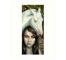 Pestilence Girl with White Horse in Bayou Art Print