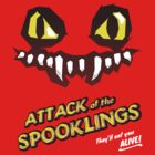 Attack of the Spooklings - B Movie Poster - Red by Carles Salas