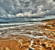 Stormy Skies over Torquay 2 by Danielle  Miner