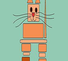Inukshuk Cat by Jean Gregory  Evans