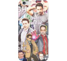rdj collage iPhone Case/Skin