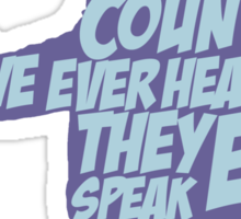 Pulp Fiction - Jules: They Speak English in What? Sticker
