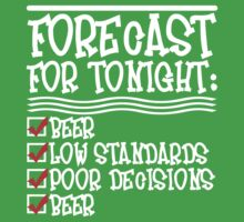 Beer Forecast - White v2.0 by Ten Ton Tees