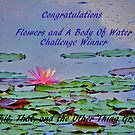 Challenge Winner Banner -Flowers and a Body of Water by quiltmaker