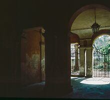 Courtyard Giovanni Pascale Scuolo Elementare Lucca 198403130029 by Fred Mitchell
