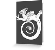 Tea, Kettle and Dragon Greeting Card