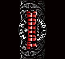 Tuhoe Lifer moko chrome by Revolution Aotearoa