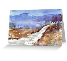 See how the grass grows in silence Greeting Card