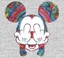Mickey Hippie Head by JohnnySilva