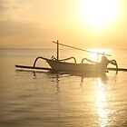 Fisherman boat in sunrise by anjumura