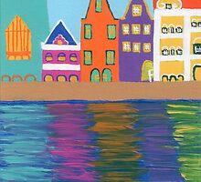Curacao's Handelskade by Melissa Vijay Bharwani
