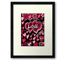 Abstract Love Framed Print