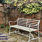 "Garden Seat Bible verse ""Rest a While"" by Shoshonan"