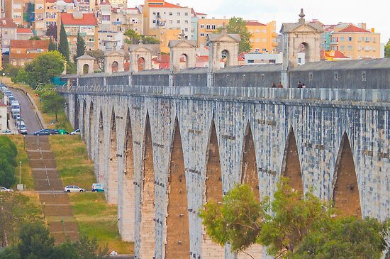 Aqueduto das Águas Livres. Aqueduct of the Free Waters. by terezadelpilar~ art & architecture