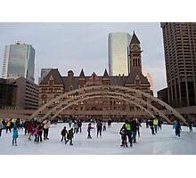 Skating At Nathan Phillips Square Photographic Print