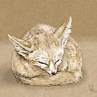 Sleepy fox by HannahT