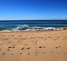 Footprints At The Beach by Noel Elliot