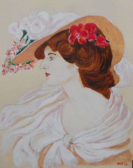 Belle Femme au Chapeau Fleuri by Bloodnok