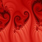 Black hearts on red silk by wulliam