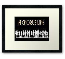 A Chorus Line Poster Framed Print