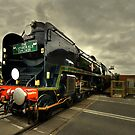 Clan Line at Exeter St Davids  by Rob Hawkins