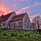 Bilsington Church At Sunset by Dave Godden