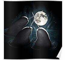 3 Narwhal Moon Poster