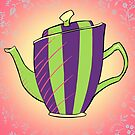 Green and Purple Teapot by CatAstrophe
