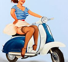 Going Places! Pin Up Girl by Fiona Stephenson
