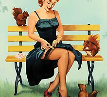 Nuts For You - Pin Up Girl by Fiona Stephenson