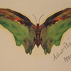 Bierstadt Albert butterfly. fine art, oil painting. by naturematters