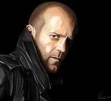 Jason Statham portrait I by Richard Eijkenbroek
