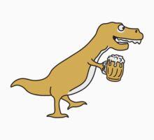 Funny Drunken Oktoberfest T-Rex Dino by Style-O-Mat