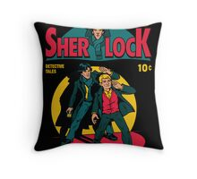 Sherlock Comic Throw Pillow