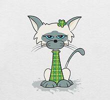Clarence Cat by Stu  Jones