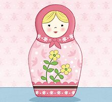 Matryoshka Doll Pink by amalou