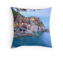 Manarola in Cinque Terre, Italy Throw Pillow