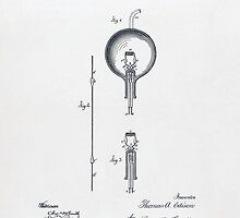 Edison Light Bulb patent 1880 by TilenHrovatic
